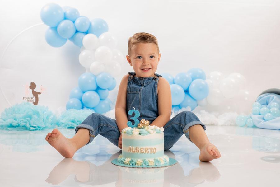 Fotografía de tercer cumpleaños en sevilla